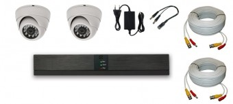 KIT 2 CAMERE INTERIOR 2C-V1 15m IR HD 720p 1Mpx