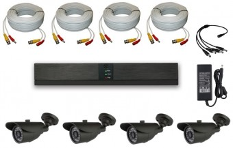 KIT 4 CAMERE EXTERIOR 4C-V5 15m IR HD 720p 1Mpx