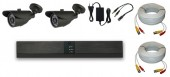 KIT 2 CAMERE EXTERIOR 2C-V5 15m IR HD 720p 1Mpx