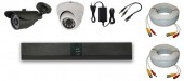 KIT 2 CAMERE MIXT 2C-V3 15m IR HD 720p 1Mpx